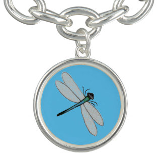 Silver Plated Charm Bracelet Dragonfly