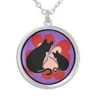 silver-plated necklace good luck