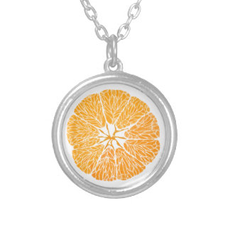 Silver Plated Necklace - Orange you glad . . .