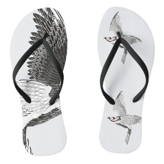 Silver-plated pheasant C Flip Flops