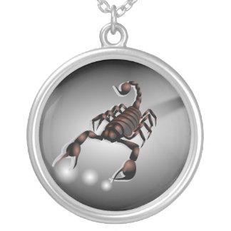 Silver Plated Scorpion Scorpio Necklace