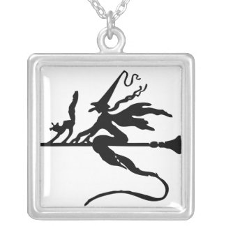 Silver Plated Square Necklace Wicca GO!