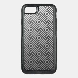 Silver Platinum Geometric OtterBox Commuter iPhone 8/7 Case
