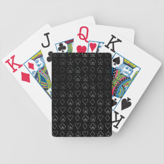 Silver Poker Symbols Bicycle Playing Cards
