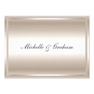 Silver Popular Elegant Wedding Invitation