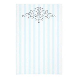 Silver Princess Filigree Stationery