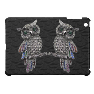 Silver Printed Owls & Jewels iPad Mini Case
