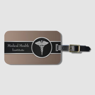 Silver Professional Medical Caduceus - Luggage Tag