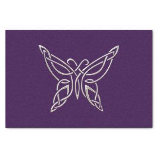 Silver Purple Celtic Butterfly Curling Knots Tissue Paper