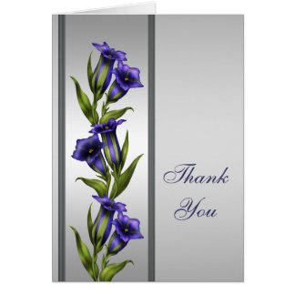 Silver Purple Crystal Violet Silver Thank You Card