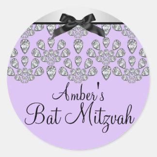 Silver/Purple Forever Diamonds Bat Mitzvah Sticker