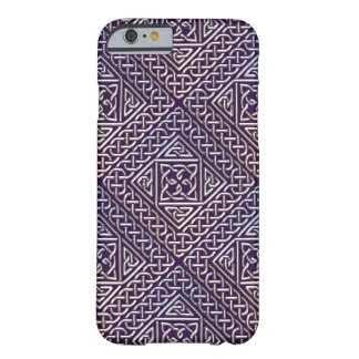 Silver Purple Square Shapes Celtic Knots Pattern Barely There iPhone 6 Case
