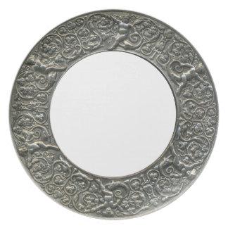 Silver Putti Border frame Dinner Plates