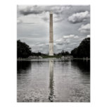Silver Reflections Washington Monument Poster