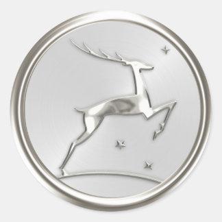 Silver Reindeer Envelope Seal