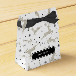 Silver Reindeers Favour Boxes