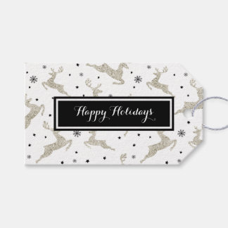 Silver Reindeers Gift Tags