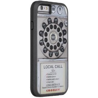 silver retro payphone iphone case