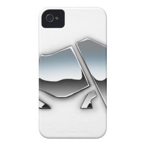 SILVER RHINO iPhone 4 COVER