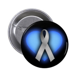 Silver Ribbon Button