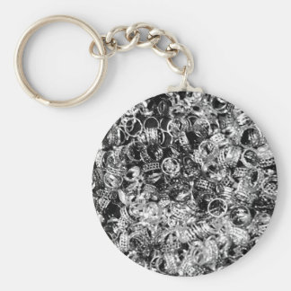 Silver ring background texture key ring