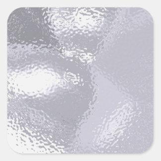 Silver Ripple Square Sticker