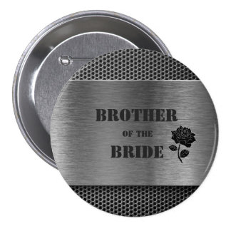 Silver Robo Metal/Brother of the Bride - Button