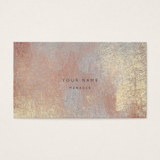 Silver Rose Gold Metalli Abstract Appointment Card