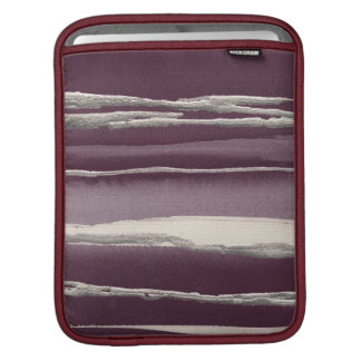 Silver Rose Purple Abstract Print Sleeve For iPads