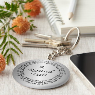 Silver Round Tuit Basic Round Button Key Ring