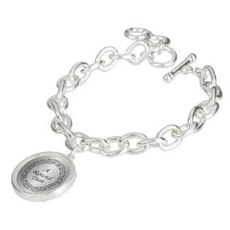 Silver Round Tuit Charm Bracelet