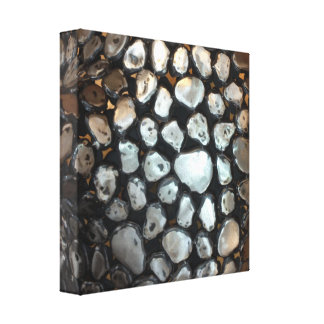Silver Rounds Gallery Wrap Canvas
