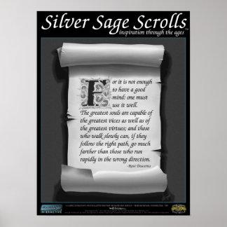 Silver Sage Scrolls™ 001: Descartes; Perseverance Poster