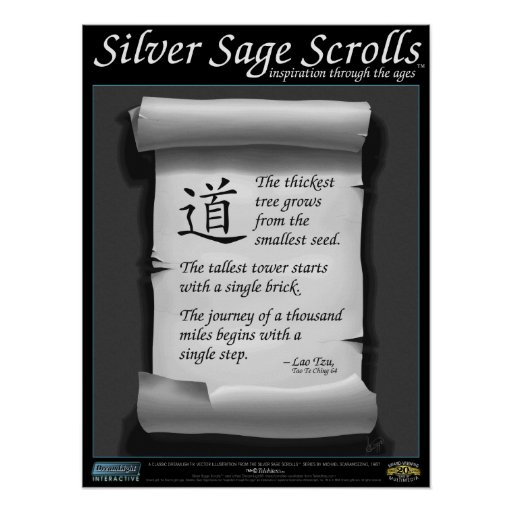 Silver Sage Scrolls™ 002: Lao Tzu; Goals Print