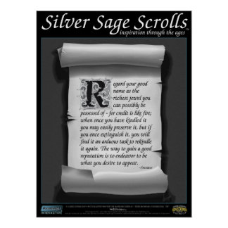 Silver Sage Scrolls™ 005: Socrates ; Reputation Poster