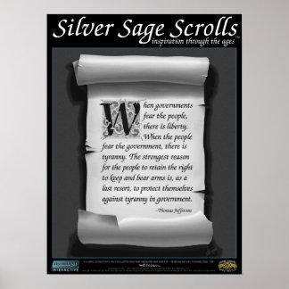 Silver Sage Scrolls™ 009: Jefferson, 2nd Amendment Poster