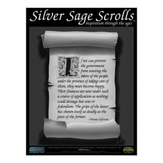 Silver Sage Scrolls™ 011: Jefferson, Federal Waste Poster