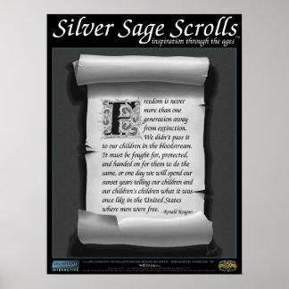 Silver Sage Scrolls™ 013: Reagan; Freedom Posters