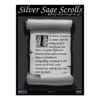 Silver Sage Scrolls™ 014: Cicero; Freedom Poster