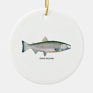 Silver Salmon (ocean phase) Christmas Ornament