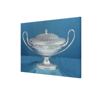 Silver sauce-tureen by Matthew Boulton Gallery Wrapped Canvas