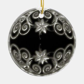 Silver Scrollwork Christmas Ornament