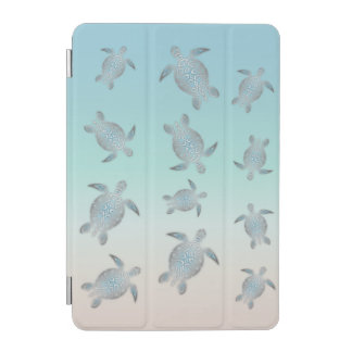 Silver Sea Turtles Beach Style iPad Mini Cover