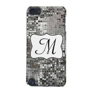 Silver Sequin Dazzle Monogram Initial IPOD Touch iPod Touch (5th Generation) Covers