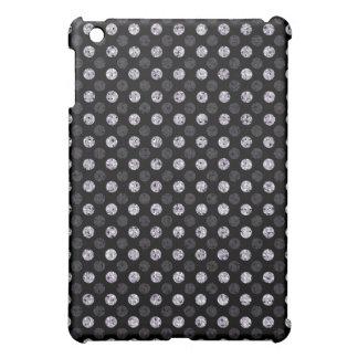 Silver Sequin Effect Dots - Dark iPad Mini Cover