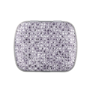 Silver Sequin Effect Jelly Belly Tins