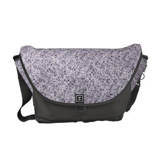 Silver Sequin Effect Rickshaw Messenger Bag