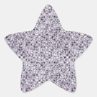 Silver Sequin Effect Star Sticker Sheets