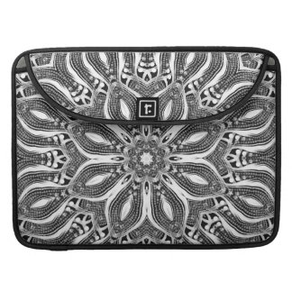 Silver Serpent Geometric Rickshaw Flap Sleeve MacBook Pro Sleeve