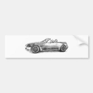 Silver Shadow MX5 Bumper Sticker